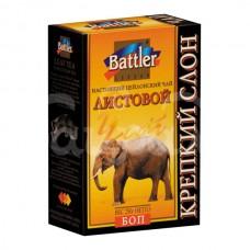 Чай Battler 250гр Крепкий Слон ВОР Черный Листовой