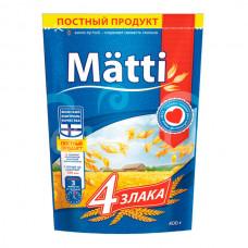 Каша б/п Matti 400гр 4 злака пакет