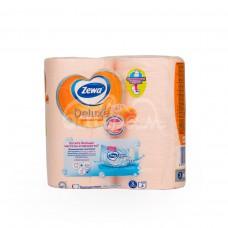 Бумага туалетная Zewa Deluxe  3сл 4шт Аромат персика
